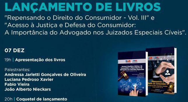 LANÇAMENTO DE LIVRO COM COAUTORIA DE SÓCIO CSG