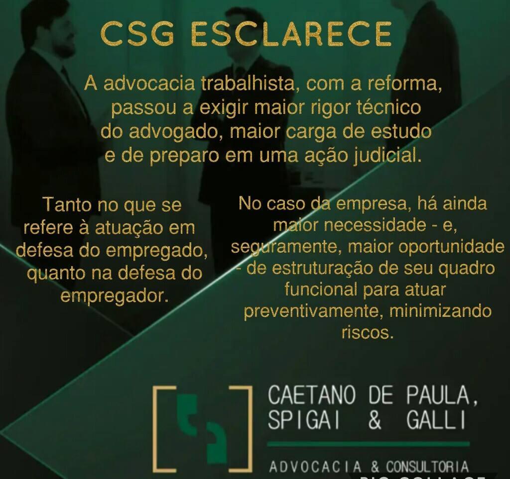CSG Esclarece