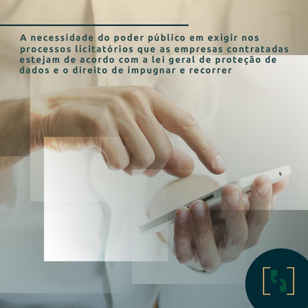 LICITAÇÃO E LGPD - PODER PÚBLICO