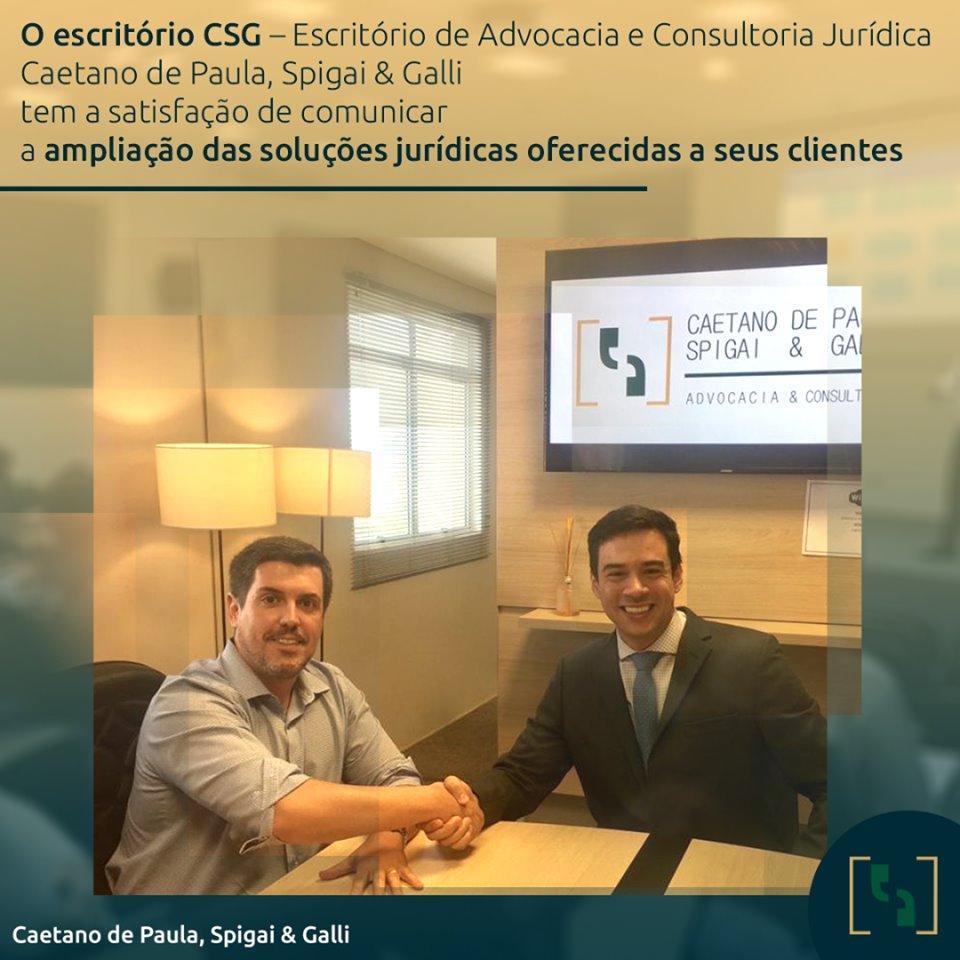 CSG amplia soluções jurídicas oferecidas a seus clientes